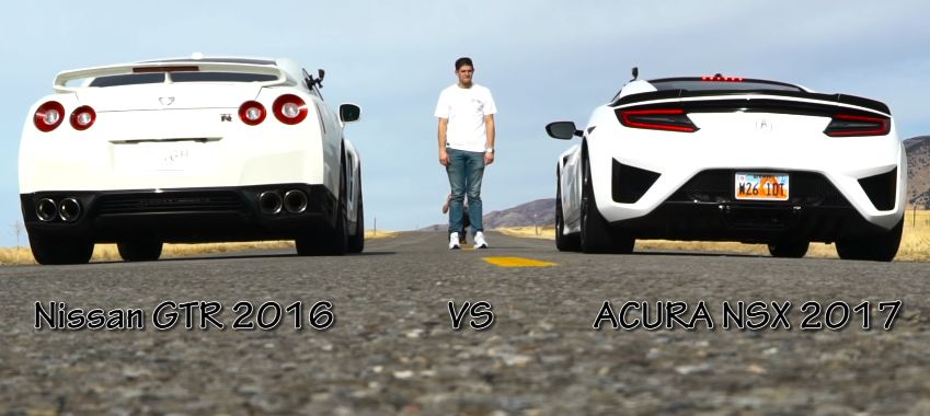 Drag Race- Acura NSX vs Nissan GTR