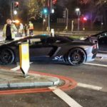 Lamborghini Aventador SV Roadster crashed in London-1