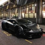 Lamborghini Aventador SV Roadster crashed in London-2