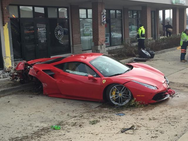 Teenager crashes Ferrari 488 GTB into Barbershop-1