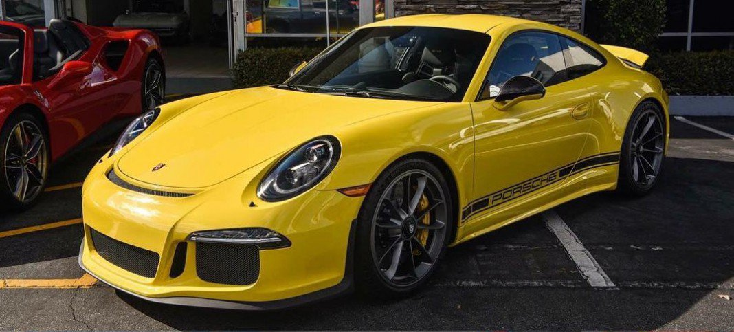 Yellow Porsche 911 R For Sale in the US