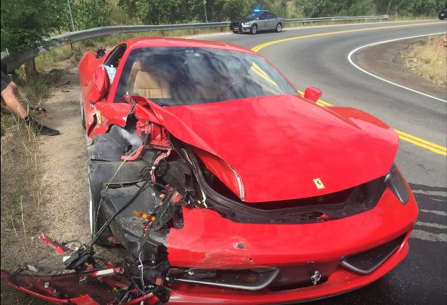 26-year old Subaru owner wrecks a Ferrari 458 Italia