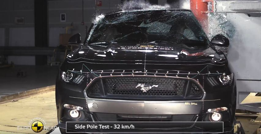 Ford Mustang Euro NCAP crash test