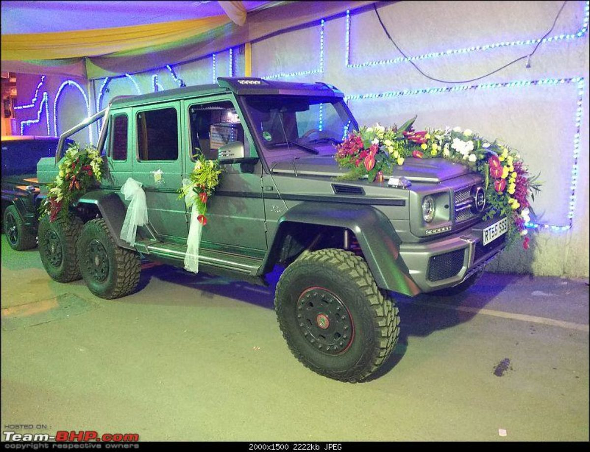 Brabus G63 Amg 6x6 Makes For A Great Wedding Car The Supercar Blog