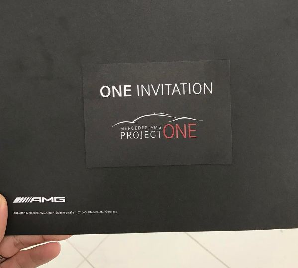 Mercedes-AMG Project One Hypercar private unveil invitation-2017 Geneva Motor Show
