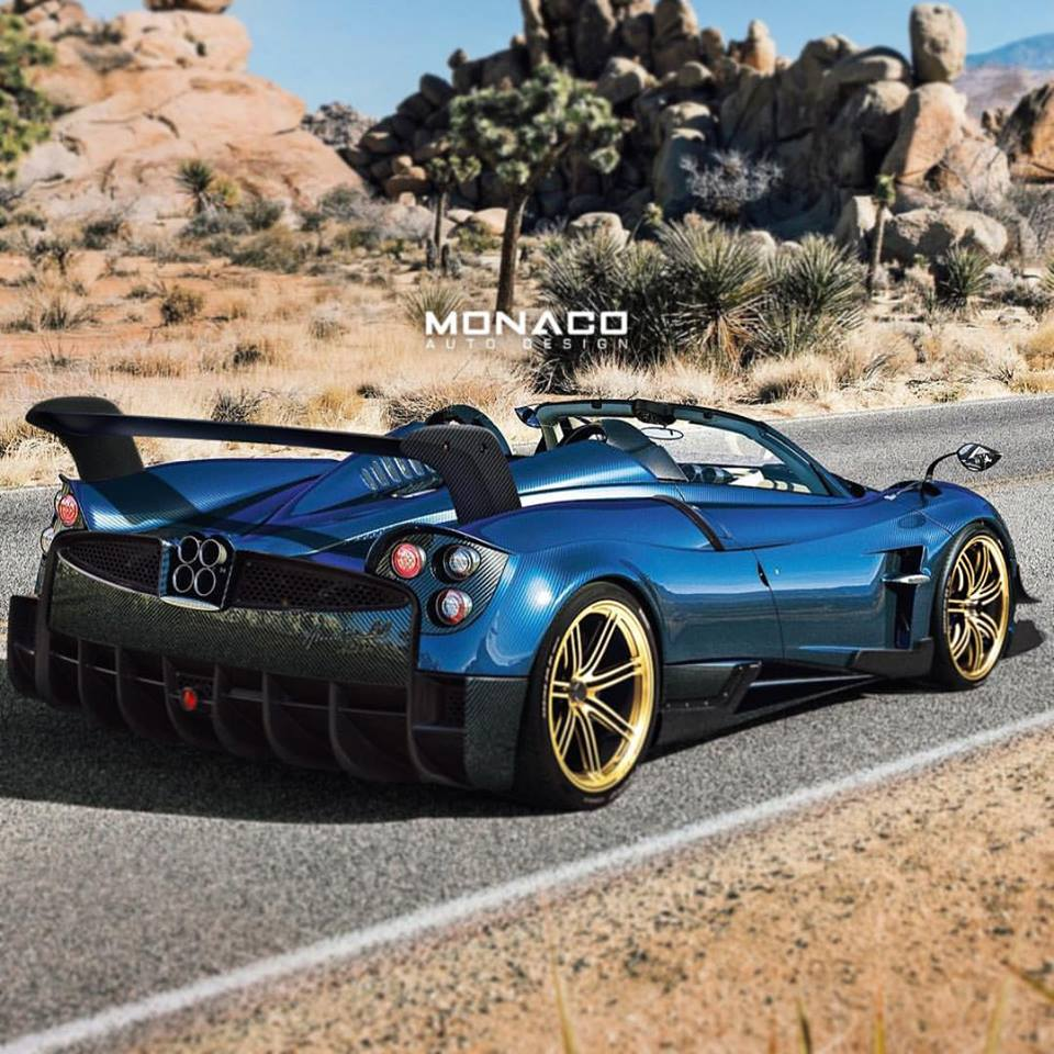 Pagani Huayra BC Roadster Render by Monaco Auto Design