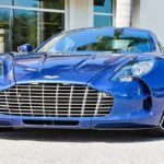 Striking Blue Aston Martin One-77 For Sale in the US-1
