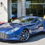 Striking Blue Aston Martin One-77 For Sale in the US-2
