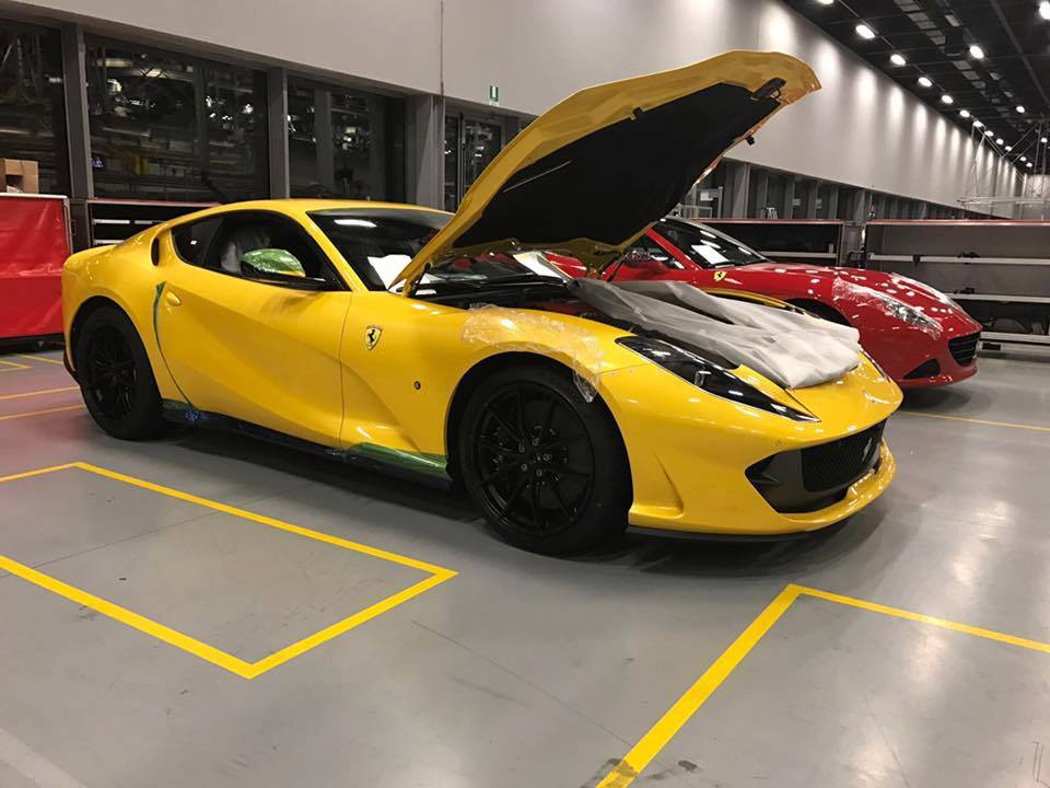Yellow 812 Superfast-Ferrari factory-Leaked image-6