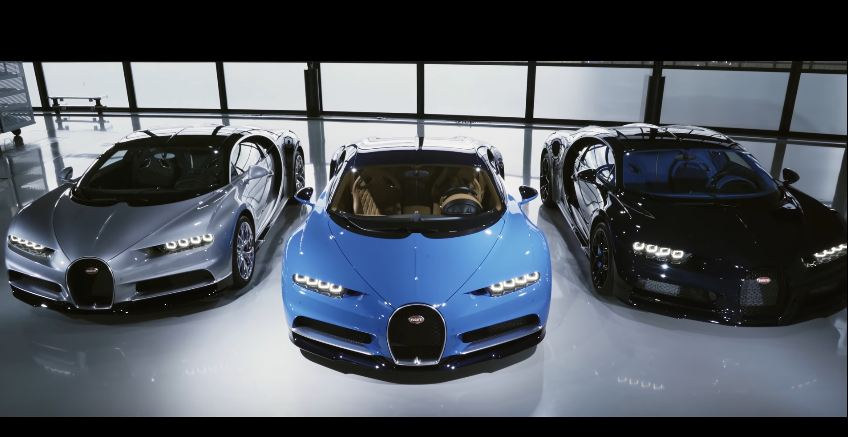 Bugatti Chiron customer cars leave factory