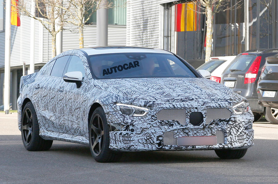 Mercedes-AMG GT Saloon test mule spotted in Germany-1