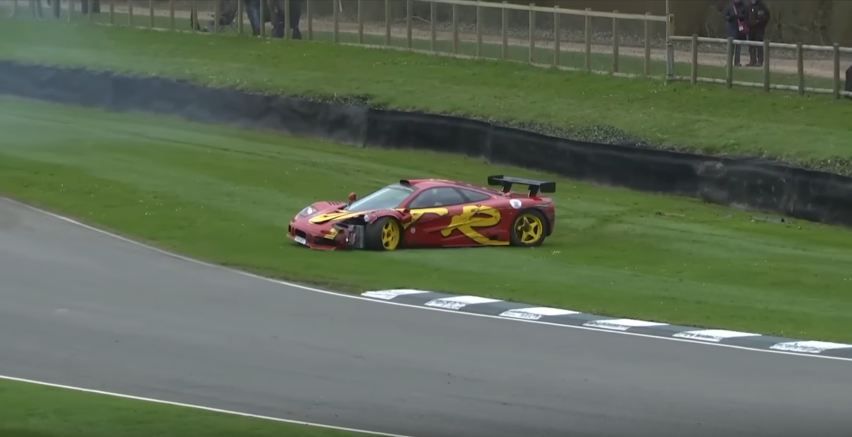 Nick Mason-McLaren F1 GTR Crash-Goodwood