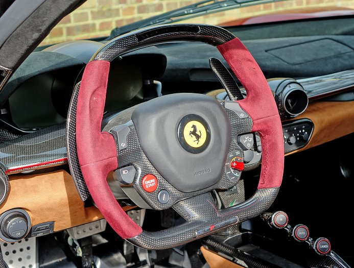 Burgundy Ferrari Laferrari For