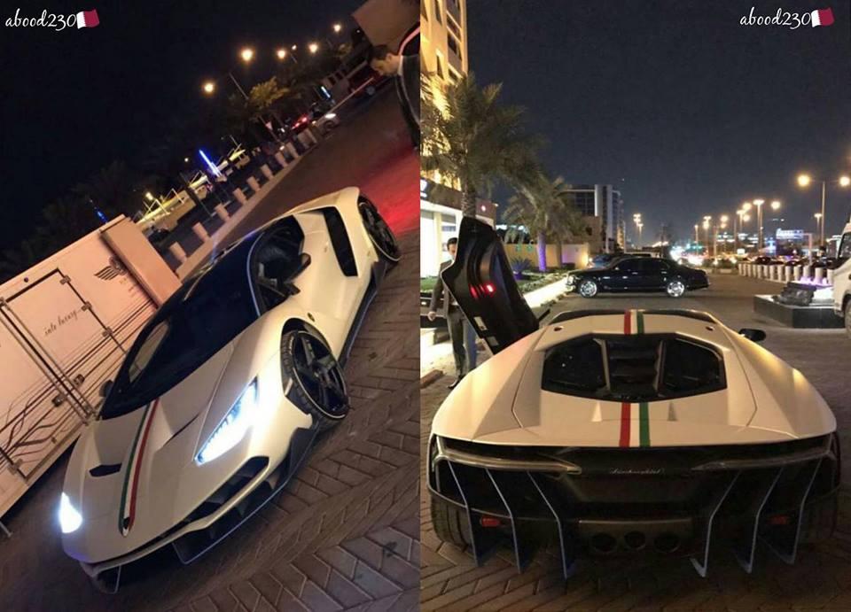 Satin White Lamborghini Centenario-Qatar-1