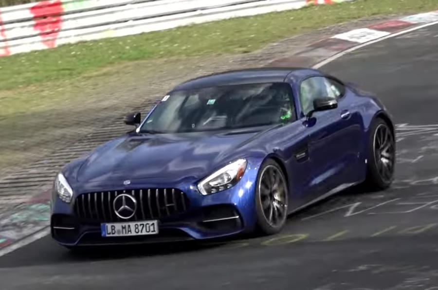 2018 Mercedes-AMG GT Facelift spotted-prototype-test mule-Nurburgring