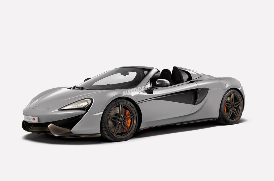 McLaren 570S Spider-Rendering