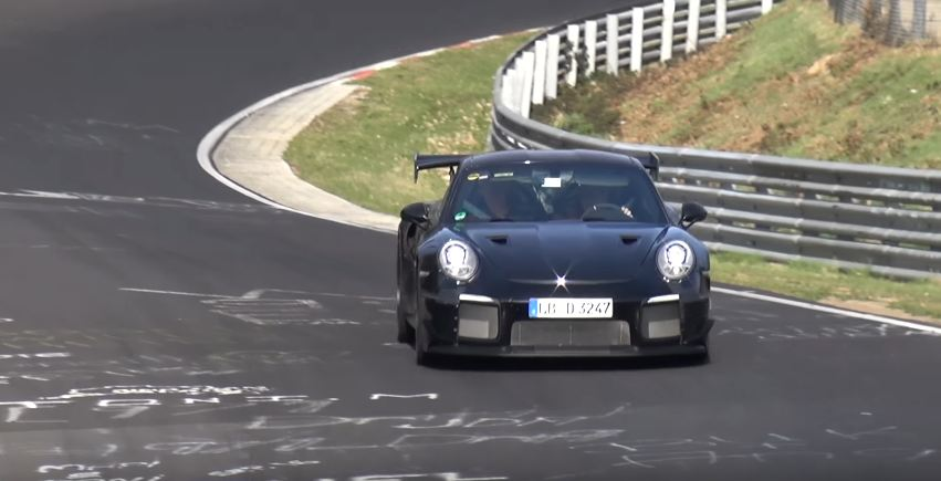 Porsche 911 GT2 RS spotted at Nurburgring