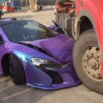 Purple McLaren 650S Spider Crash-China-1
