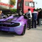 Purple McLaren 650S Spider Crash-China-3