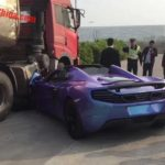 Purple McLaren 650S Spider Crash-China-4
