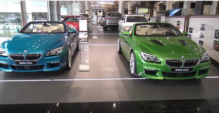 worlds biggest BMW dealership-Abu Dhabi Motors showroom