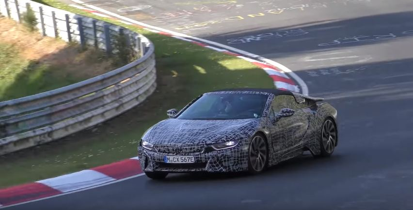 Video Bmw I8 Spyder Spotted At The Nurburgring The Supercar Blog