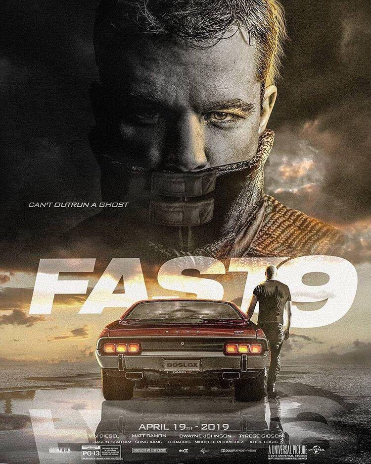 Fast and Furious 9-Poster-Matt Damon