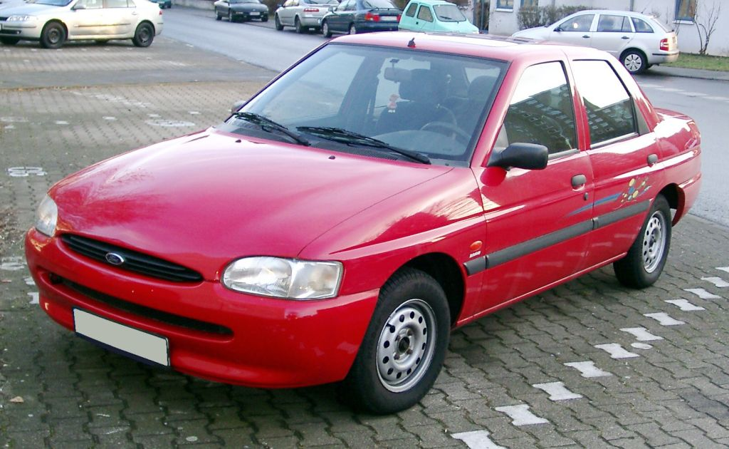 Ford Escort Red Sedan