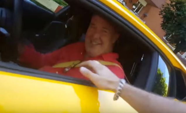 Jeremy Clarkson meets fan