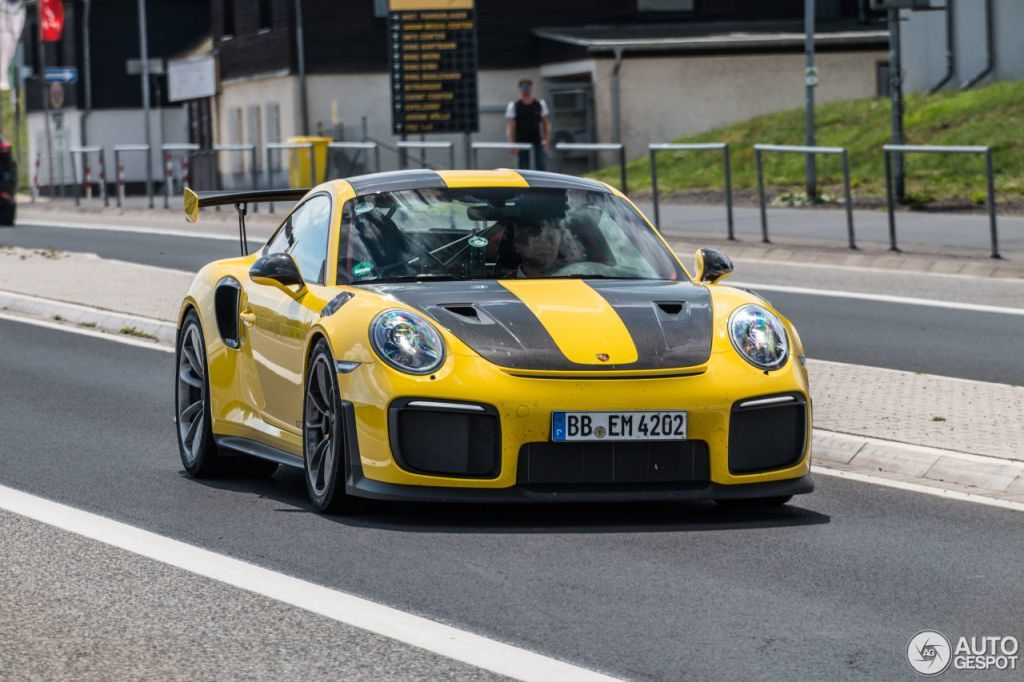 Racing Yellow Porsche 911 Gt2 Rs Spotted At Nurburg The Supercar Blog