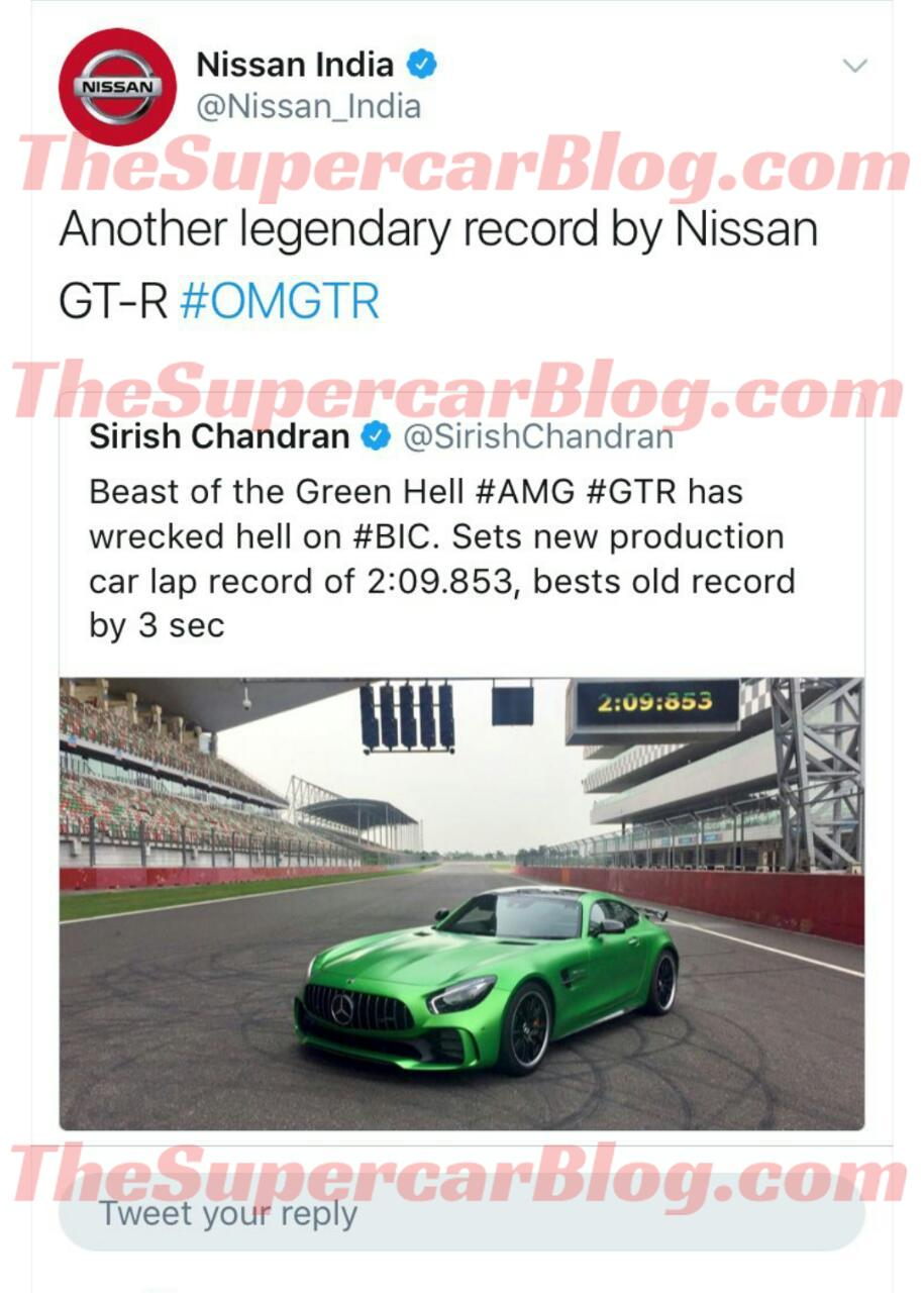 Nissan-India-AMG GT R-retweet