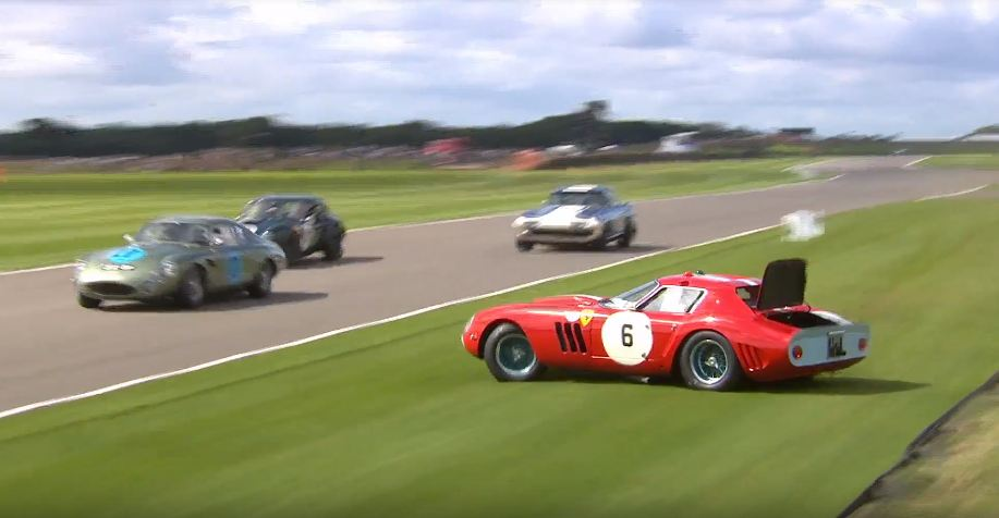 Ferrari 250 GTO crash-Goodwood-Revival