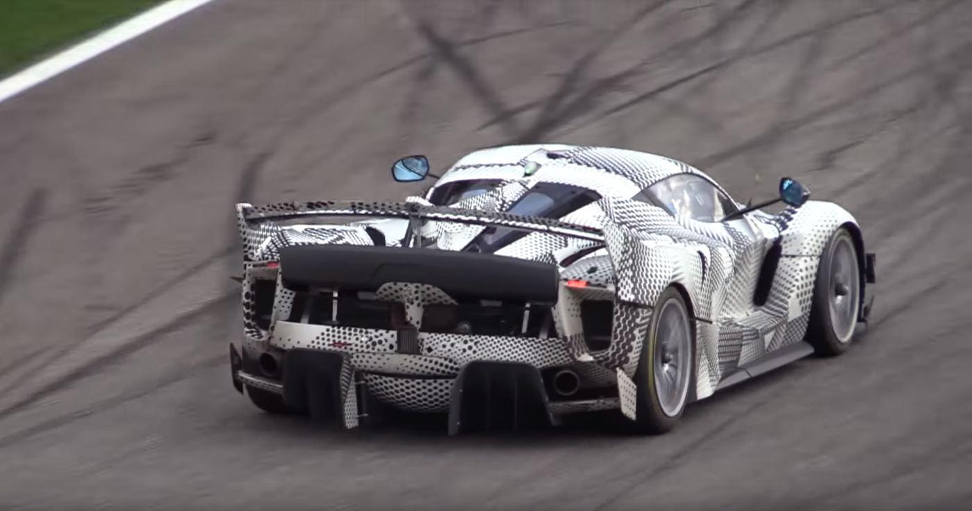 Ferrari FXX K Evoluzione-test mule-Monza-2