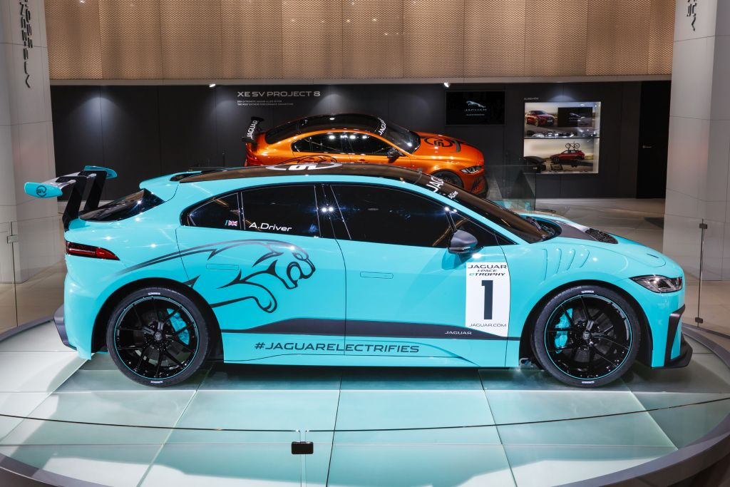 Jaguar I-PACE electric race car-eTrophy