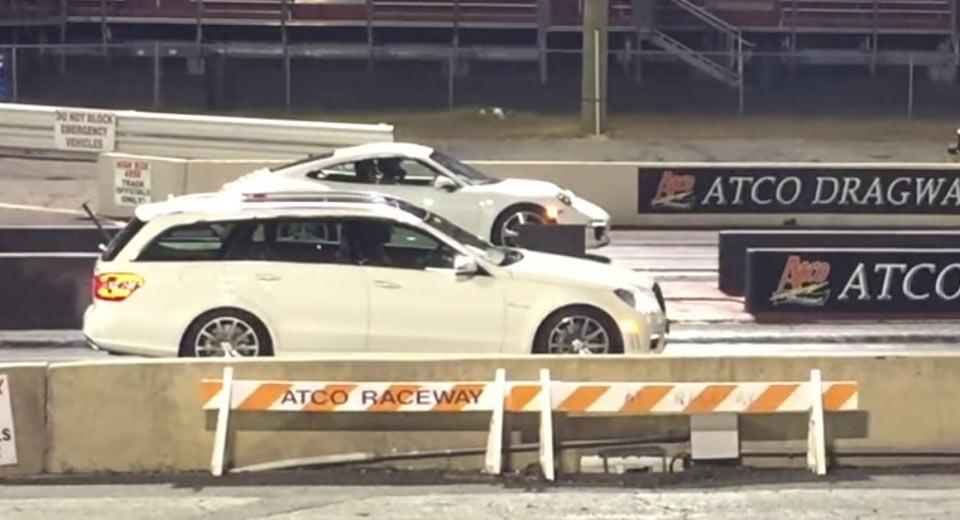 Doug deMuro-Mercedes E63 AMG Wagon-Porsche 911-Audi R8-drag race