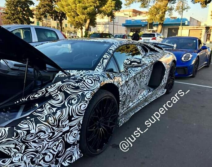 Spy Shots 2019 Lamborghini Aventador Sv Gt Jota Test Mule The
