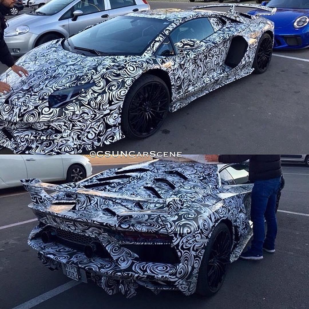 Lamborghini Aventador SV-GT-Jota-spy shots