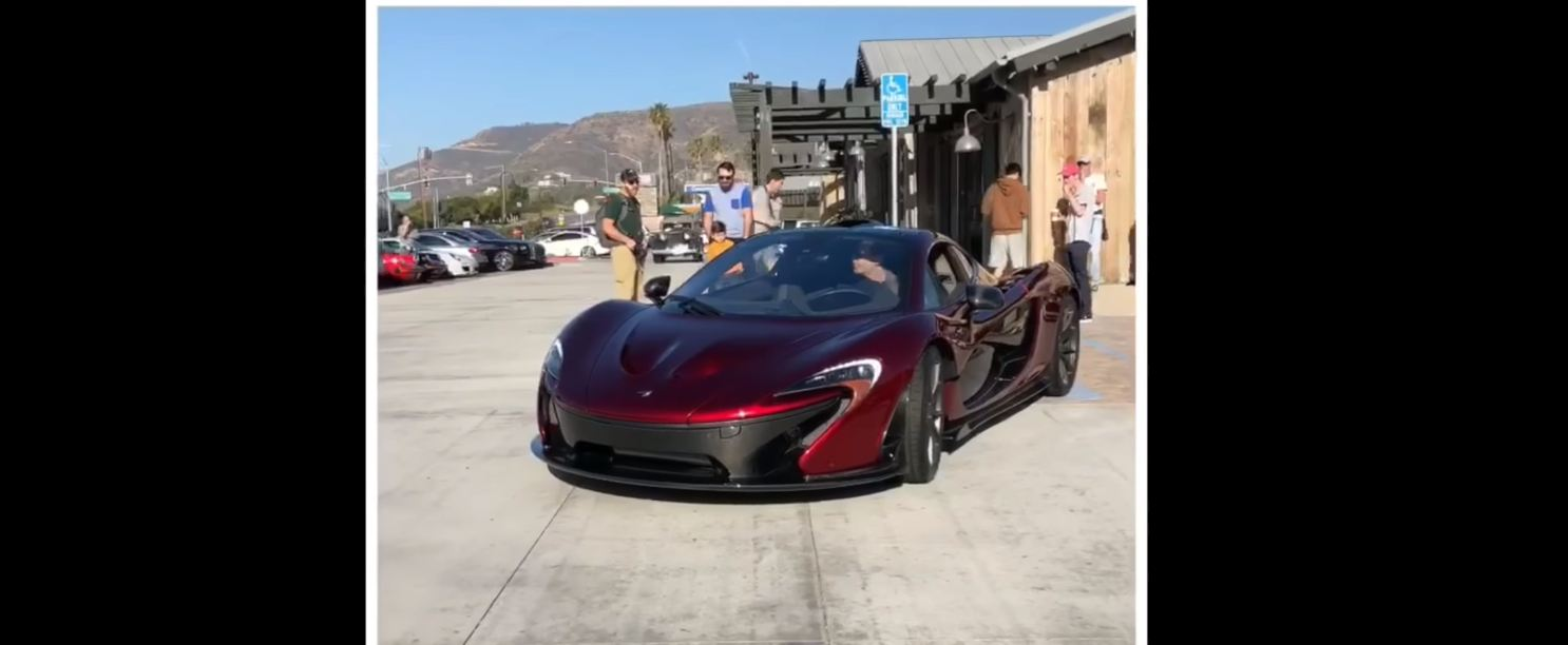 McLaren P1-curb crash-Cars and Coffee-Malibu