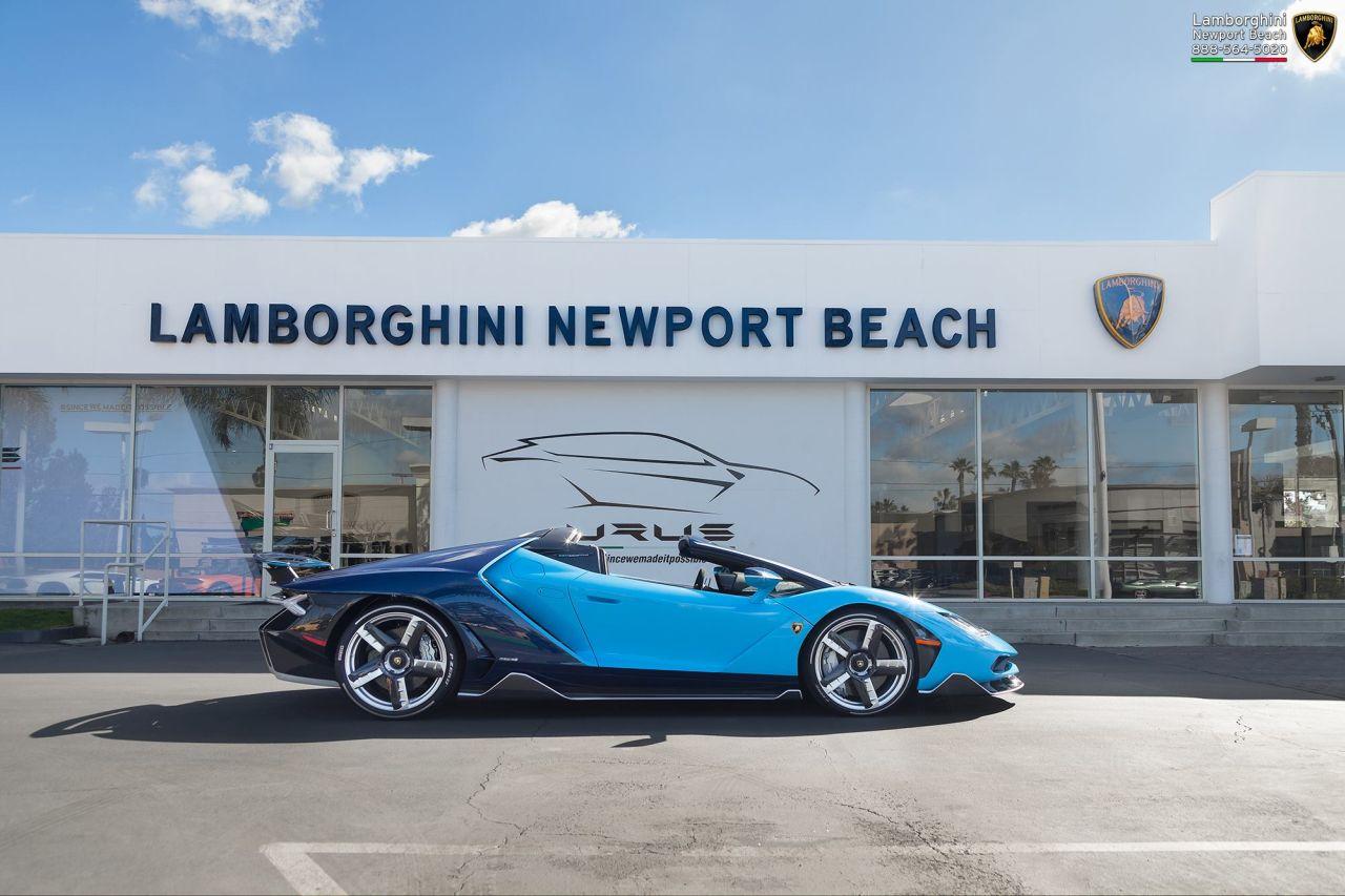 Blu Cepheus Centenario Roadster Arrives At Lamborghini Newport Beach