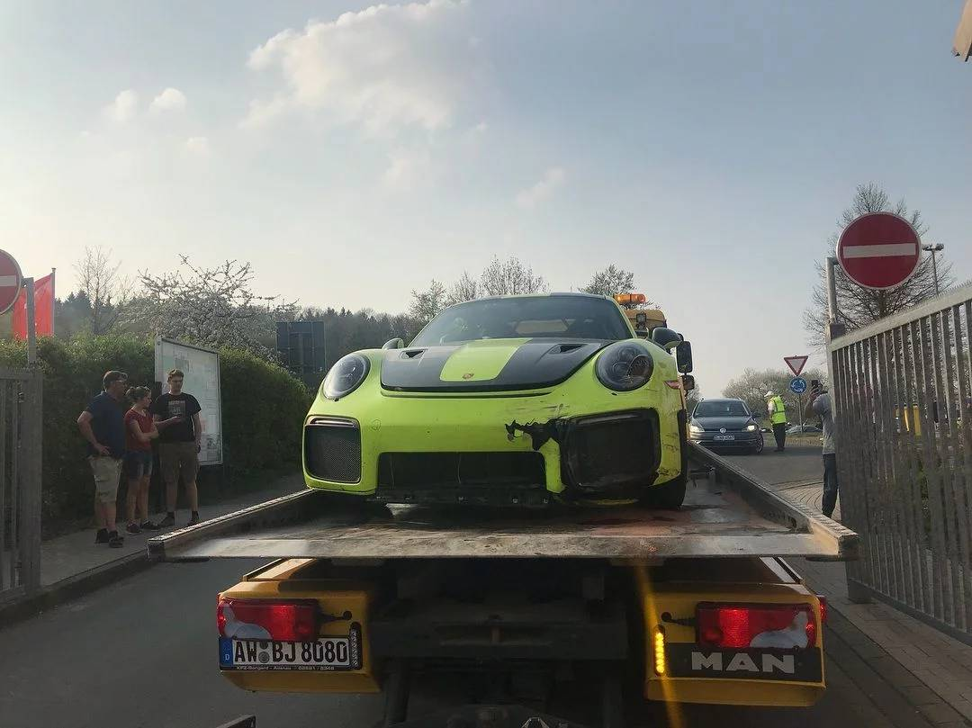 Porsche 911 Gt2 Rs Crashes At The Nurburgring The Supercar Blog