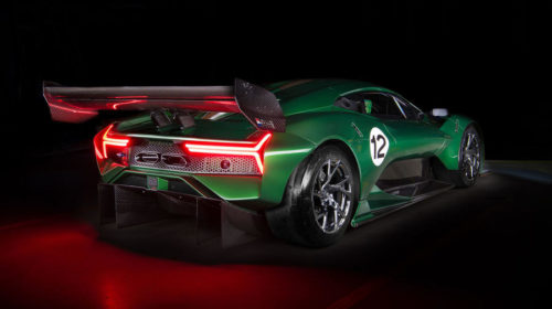 Brabham BT62 rear quarter view lights on