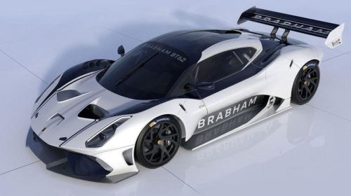 Brabham BT62 Front Quarter View White_Navy