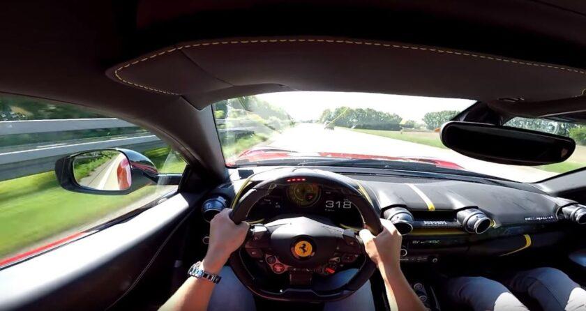 Ferrari 812 Superfast-top-speed-autobahn