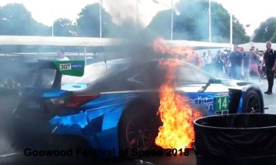 3GT Racing-Lexus RC F GT3-Fire-Goodwood
