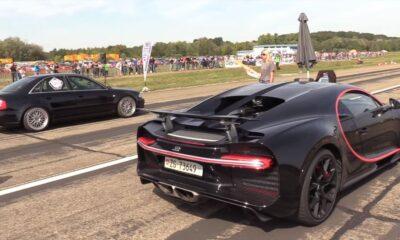 Audi S4 Hannover Hardcore vs Bugatti Chiron drag race