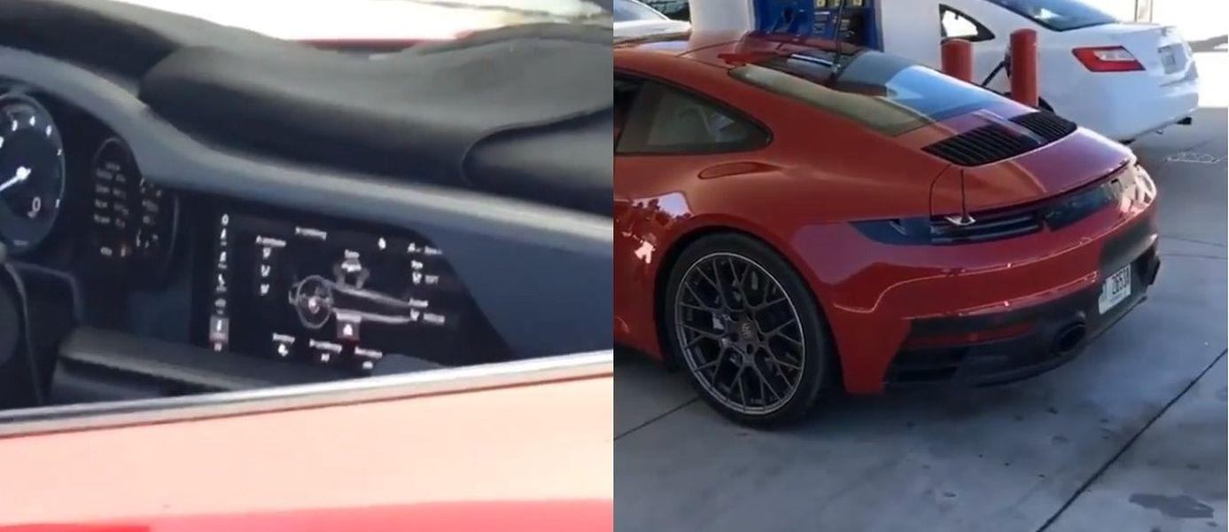 Porsche 911 992 spy shot interior 01 1