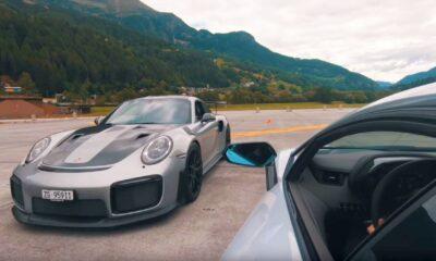 Porsche 911 GT2 RS versus Lamborghini Aventador S drag race