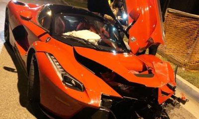 LaFerrari crash Beverly Hill California USA
