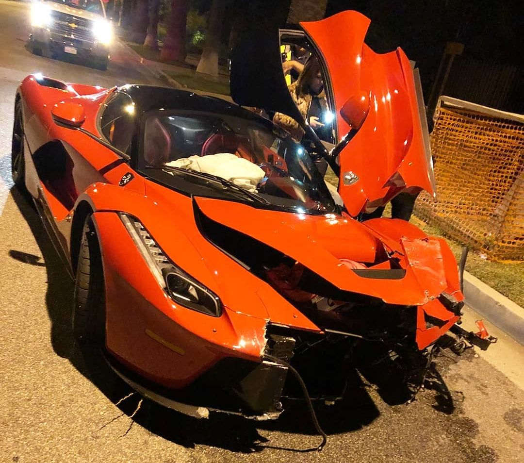 ferrari laferrari gets wrecked in beverly hills - the supercar blog