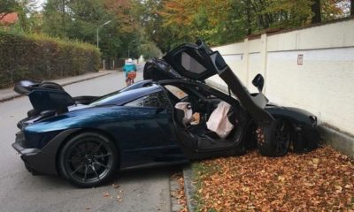McLaren Senna crash Germany